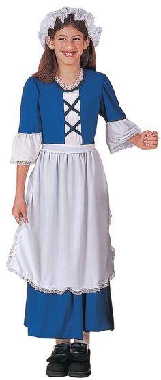 Costumes! American Colonial Missl Dlx Costume Set Child Large 12-14 #RU #Dress