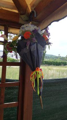 Ombrello con fiori