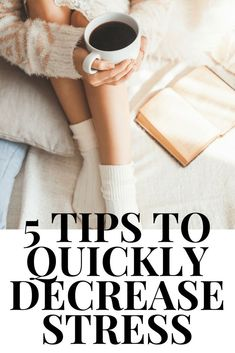 We all deal with stress so here are 5 easy and quick ways to decrease our stress level. How to reduce stress, how to feel better, how to feel beautiful, how to feel good about yourself, how to feel happy #stressrelief #stressmanagement #howto #stress #anx