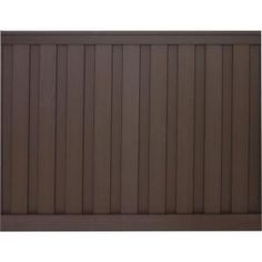 Trex, Seclusions 90-1/2 in. x 4 in. x 72 in. Woodland Brown Privacy Fence Kit, WBPFK68 at The Home Depot - Mobile