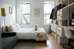 Who Lives Here: Whitney, her husband, and their pup Location: East Village, NYC Size: 300 square feet