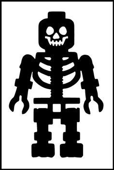 Plus Size Lego Inspired Lego Skeleton Iron on Vinyl Design