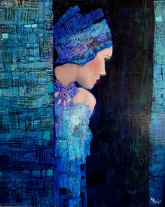 Folie bergère by French contemporary abstract figurative artist Richard Burlet