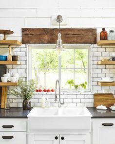 Everyone has a great life story to tell, and this Kitchen remodel had lots of history that the homeowner was able to share with us Have you been trying to find the perfect design for a Custom Kitchen…MoreMore Farmhouse Sink Kitchen, Home Decor Kitchen, Rustic Kitchen, New Kitchen, Kitchen Dining, Kitchen Shelves, Kitchen Ideas, Space Kitchen, Kitchen Pantries