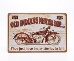 Placa Decorativa Moto Indian - Machine Cult   A loja das camisetas de carro e moto