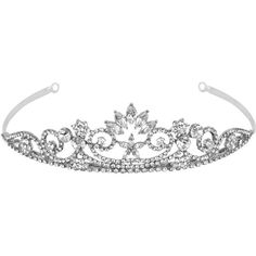 Crystal navette flower swirl tiara (€65) ❤ liked on Polyvore featuring accessories, hair accessories, jewelry, tiaras, crowns, women's jewellery, crystal hair accessories, crystal flower hair accessories, crystal tiara and flower hair accessories