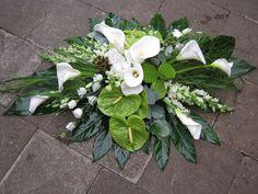 Creative Flower Arrangements, Funeral Flower Arrangements, Funeral Flowers, Floral Arrangements, Altar Flowers, Fall Flowers, Funeral Sprays, Cemetery Decorations, Casket Sprays