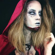Zombie Red Riding Hood Halloween Makeup Idea
