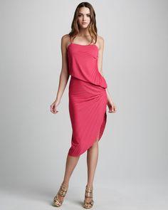 Pleated Asymmetric Dress - Lyst