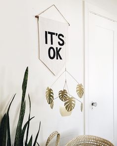 two things: 1. this plant mobile by @nataliejoyjewels is the best ever and it's on sale for 15% off with code 'memorialmobile' until monday the 30th! 2. i may or may not be hosting a giveaway for one of these @secretholidayco banners later in the week! you're welcome.
