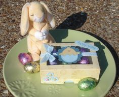 Qbee's Easter Egg Box Outside by Qbee - Cards and Paper Crafts at Splitcoaststampers