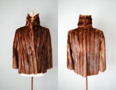 Vintage 50s/60s Brown Fur Jacket // Medium #vintage #vintagefur #sable #mink #furjacket