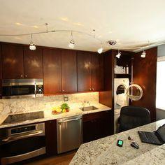 hidden washer and dryer in kitchen - Google Search
