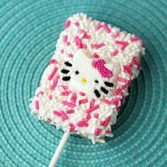 Hello Kitty Rice Krispy treat.. Too cute