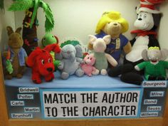 Match the Author to his/her character! could be interesting interactive display