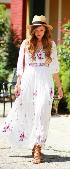 Boho embroidered dresses are all the rage in 2016. However, they were also very popular in the 60s. Check your local thrift store for estate sale rejects and you'll find gold.