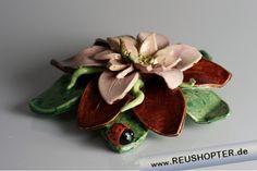 Keramikblume, Tischschmuck, Blumengesteck, Blumenkomposition, Blumendeko, Keramikdeko, Tondeko, Tonblume, Handarbeit, Geschenke aus Keramik, Geschenke aus Ton