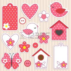 Vector Scrapbook Elements - Love Set Royalty Free Cliparts, Vectors, And Stock Illustration. Image 12192482.