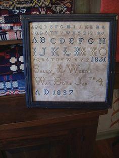Early Inspired Sally Weed 1837 Goode Huswife Historical Sampler Lb | eBay
