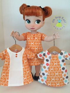 OhSewKat! PDF pattern Sunshine Dress for Animator doll