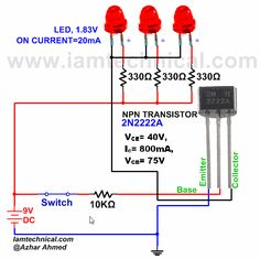 NPN Transistor 2N2222A as a Switch | IamTechnical.com