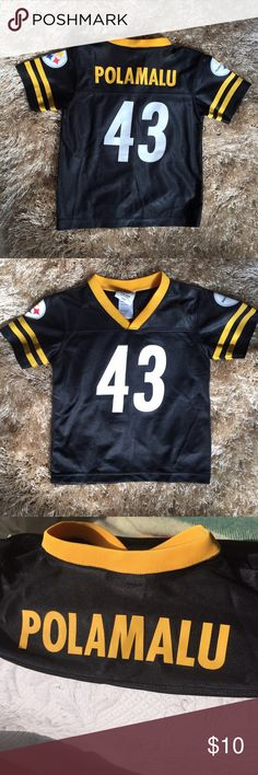 Toddler Steelers Jersey Nice condition, great for family game day!! NFL Team Apparel Shirts & Tops