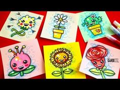 How To Draw Cute Flowers   Easy & Kawaii Drawings by Garbi KW