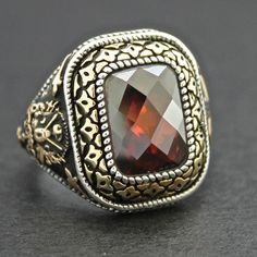 Sterling Silver Great Ottoman Sultan's Ring by KaraJewelsTurkey, $58.10