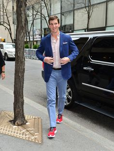 Eli Manning wearing the new @Reebok ZigCarbon at Late Night with Jimmy Fallon