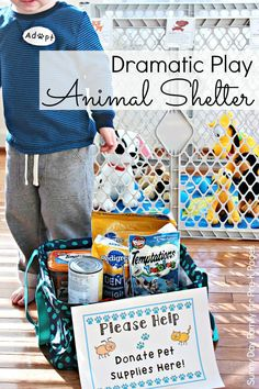 Dramatic Play Animal Shelter Printables for Service Learning and Pretend Play in Preschool.