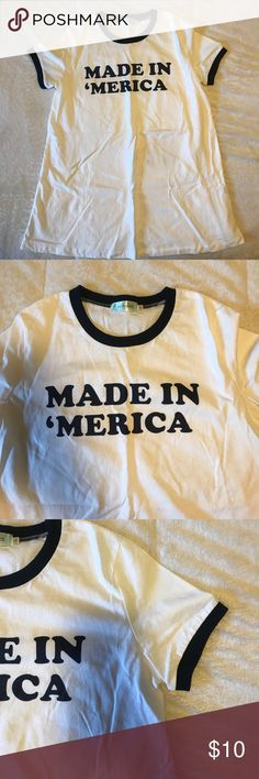 Made in America retro tee New. Never been worn. Jacey Lane Tops