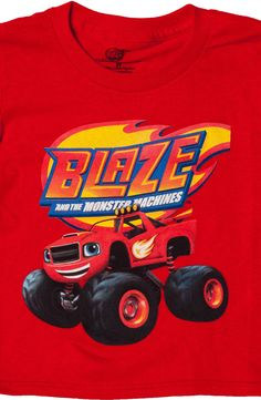 Blaze And The Monster Machines Shirt From Hit Nick Jr Show!