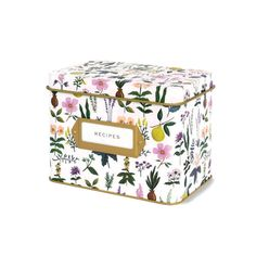 The vintage inspired Tin Recipe Box is a great gift for those who love to cook. Blank recipe cards and dividers help keep things organized and easy to find. Includes 12 letterpressed dividers and 24 r