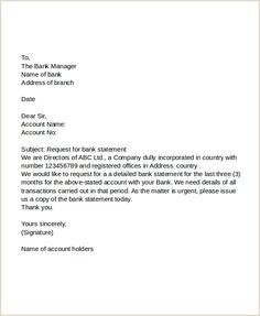 11 Request Letter to Banks PDF DOC