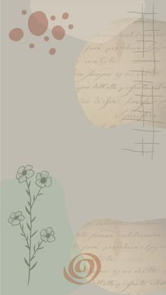 Boho abstract botanical iPhone and Android wallpaper.