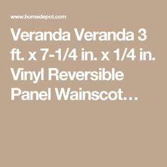 Veranda Veranda 3 ft. x 7-1/4 in. x 1/4 in. Vinyl Reversible Panel Wainscot…
