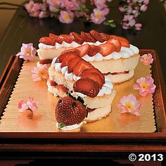 Cute idea for dessert for my Chinese New Year party! Strawberry Shortsnake