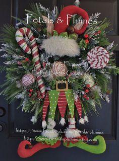 """Pre-ORDER """"2014"""" entrega del artículo-Navidad guirnalda-""""Primitivo Candy Land Elf"""" (ver tiempo de producción) pétalos & penachos Diseño Original"""