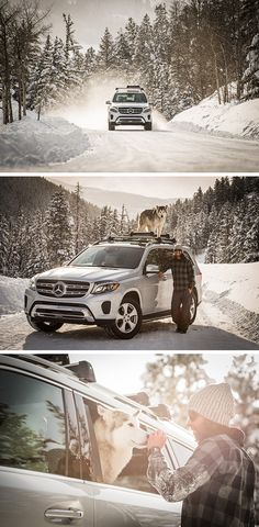 Ready for a real adventure? Join Loki the Wolfdog & Trent Bona on the road with the Mercedes-Benz GLS. via Mercedes-Benz USA Mercedes Benz Gl Class, Mercedes Benz Suv, Jeep Grand Cherokee, Luxury Cars, Wolfdog, Loki, Adventure, Family Cars, Usa