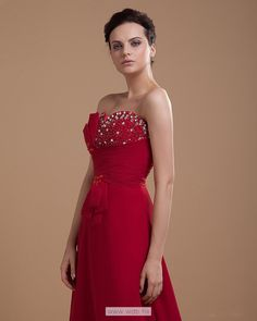 Sweetheart Floor Length Chiffon Prom Dress with beaded details in the bodice $149.46