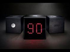 The Audi Test Drive Cube:Sobald ein Kunde den Knopf drückt, startet ein 90-minütiger Countdown.