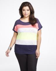 color block stripe top   Shop Online at Addition Elle