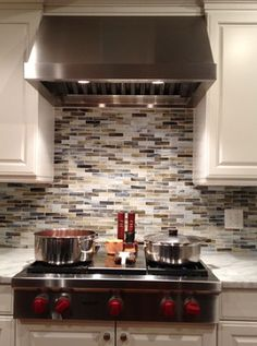 Glass Tile Backsplash Kitchen Design Ideas, Pictures, Remodel, and Decor - page 11