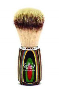 Shaving Brushes and Mugs: Omega 0146751- Premium Shaving Brush With Synthetic Hair - Hi - Brush BUY IT NOW ONLY: $49.99