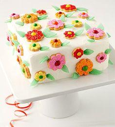 Colorful square cake