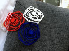 Wire Lapel Flower with Stem 3d printed Jewelry Accessories