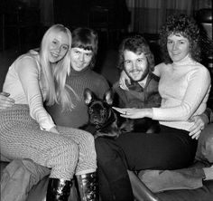 ABBA with a cute dog