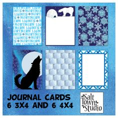 FREE Northern Lights - Journal Cards