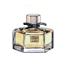 Watercolor Illustration Gucci Flora Eau de by LadyGatsbyLuxePaper, $10.00
