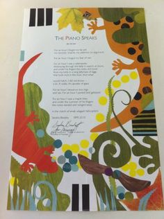 A broadside created by Jan Murray, professor of art and associate dean of the College of Liberal Arts, features a poem by Sandra Beasley, 2010 UM Summer Poet in Residence.  The broadside has been produced in a 100-copy limited edition, numbered and signed by the poet and the artist.